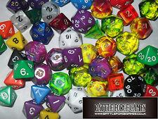 DICE SETS - D&D DARK HERESY - D20 D12 D10 D% D8 D6 D4 - ROLE PLAY DICE RPG NEW