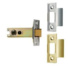 "Eurospec Tubular Mortice Latch Heavy Duty Sprung Door Latch 2.5"" 3"" 4"" 5"" EB/SSS"
