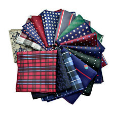 Mens Handkerchief Lot Silk Pocket Square Hanky Wedding Party Suit Hankies CCERTG