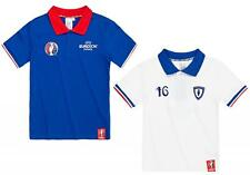 Boys Official UEFA EURO 2016 Football FRANCE Polo Collar T-Shirt 4 to 10 Years