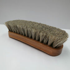 Neutral Shoe Shine Buffing Brush 100% Horsehair Horse Hair Wood Handle Boot