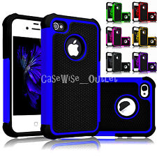 New Hard Silicon Dual Layer Shock Proof Defender Case Cover For All Apple iPhone