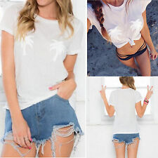 Fashion Women LadY Coco Print Tops Summer Loose Short Sleeve Blouse T-Shirt Alt