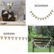 MR & MRS JUST MARRIED Banner Garland Wedding Party Photo Props Hanging Decor