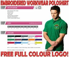 NIC EIC Embroidered Workwear Poloshirt. FREE LOGO PLUS YOUR COMPANY NAME.