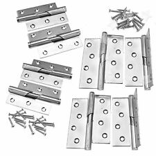 """Pair of 3""""/4"""" Rising Butt Left/Right Handed Lift Off Stainless Steel Door Hinge"""