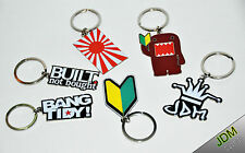 JDM Pendant Wakaba, Domo-Kun, Eat Sleep DRIFT, Rising Sun, Bang Tidy Keyring