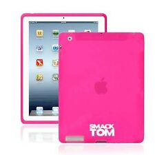 New Rubberized Hot Pink Silicone Case Cover Skin For Apple IPad 3 And IPad 4
