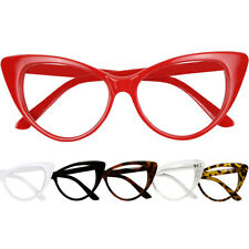 Womens Extreme High Pointed Cat Eye Rx-able Frames Fashion MOD Clear Sunglasses