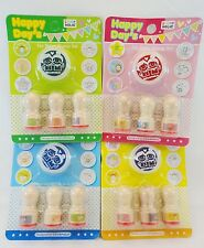 Wood Rubber Stamps Diary Set of 3 With Ink Pad New