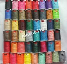 Whole Color 1mm HIGH QUALITY KOREA Waxed Cotton Cord Cotton Beading String Cord