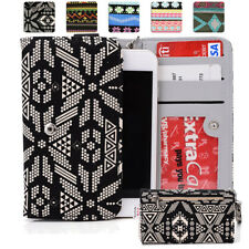 KroO ESPS-21 MD Aztec Patterned Protective Wallet Case Cover for Smart-Phones