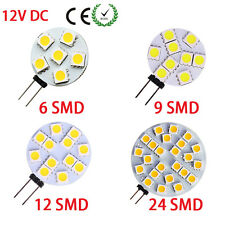 New 2W 3W 4W 6W G4 6/9/12/24 LED 5050 SMD Light Camper Bulb Boat Car Home DC12V