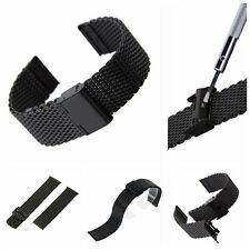 Stainless Steel Bracelet Strap Watch Mesh Replacement Band 18 20 22 24 mm