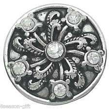 Gift Wholesale Snap Buttons Charms Flower Carved Fit Snap Bracelets K01101