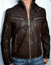 Affliction - SHOCK VALUE Men's Leather Jacket - Biker - NEW - 110OW007 - Brown