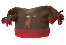Gymboree MOUNTAIN LODGE Brown Fleece Baby Toddler lined MOOSE Hat 12 18 24 NWT