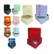 1Pcs Ring Earring Necklace Square Jewellery Gift Case Boxes Display Package YD2