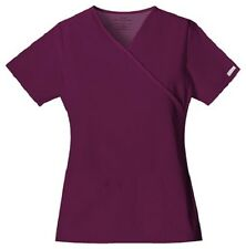 Cherokee Scrubs Flexibles V Neck Scrub Top 2824 Wine