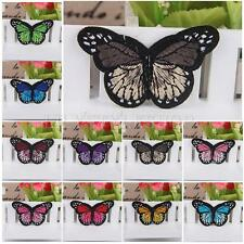 Butterfly Motif Cloth Embroidered Applique Iron-on Sew On Patch DIY Accessories
