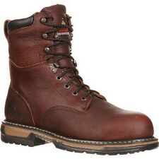 """New Mens Rocky 8"""" Ironclad Waterproof Soft Toe Brown Work Boots Size 8-14 5693"""