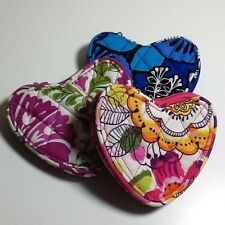 NWT Vera Bradley Sweetheart Coin Purse Lobster Key Chain Bag Charm FREE SHIPPING