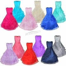 Flower Girl Princess Dress Kid Party Pageant Wedding Bridesmaid Prom Ball Gown
