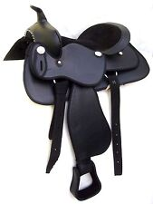 "NEW Western Leather saddle (Black Colour) 15"",16"" &17"""