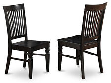 Set of 2 Weston Dining Wood Seat Chair with Slatted Back