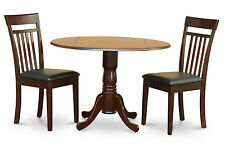 3 PC kitchen nook dining set-drop leaf table and 2 dining chairs
