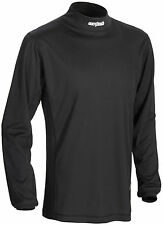 Cortech Mens Black Journey Coolmax Mock Snowmobile Long Sleeve Base Layer Top