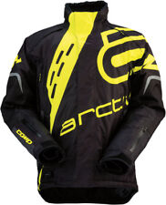 Arctiva Mens Black/Yellow Comp RR Shell Uninsulated Snowmobile Jacket