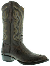 mens brown real crocodile alligator j toe cowboy leather boots western rodeo