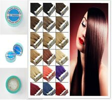 20pcs Seamless Tape In 100% Remy Brazilian Human Hair Extensions 16''-24'' AAA