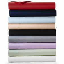 "Scala Brand 1000TC 1PC Soft Fitted Sheet 100% Cotton Solid 21"" Extra Deep Pocket"
