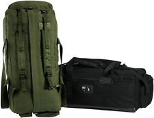 Israeli Military Mossad Tactical Duffle Bag Double Strap Backpack GREEN OR BLACK