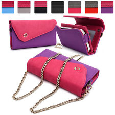 Womens Link Wallet Case & Crossbody Clutch Cover for Smart Cell Phones CRWL7