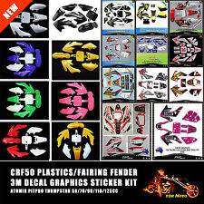CRF50 Sticker/Backgrounds/Decal/Graphics/Emblems + Plastics/Fenders/Fairing Kit
