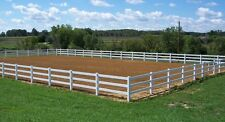 A Vinyl Fence RAIL(Horse Fence), Privacy, Picket SAMPLE.