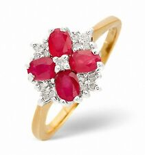 Diamond and Ruby Ring Yellow Gold 9 Carat Size F - Z Appraisal Certificate