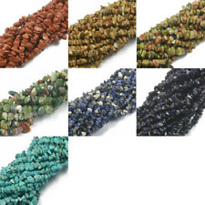 "5-8mm Freeform Beads Chip Loose Gemstone Beads Strand 34"" for Jewelry Making"