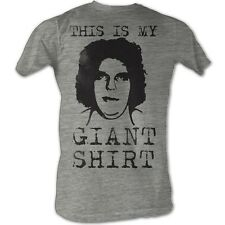 Andre The Giant T-Shirt – Giant Shirt Wrestling Gray Heather Adult Tee Shirt