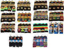 12 Pairs Mens Designer Socks Cotton Rich Lycra Design Socks Size 6-11 Gift Socks