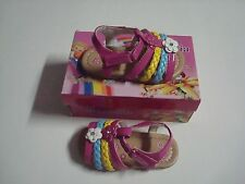 NEW  BABY & TODDLER STYLE SANDALS VELCRO SHOES COLOR FUCHSIA ( SUMMER  SALE  )