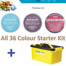 Snazaroo 18ml Face Paint 36 or 18 Colour Kit Starter Set Make Up Birthday Party