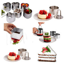5 Style Nice Stainless Steel Mousse Cake Ring Mold Layer Slicer Cook Cutter Bake