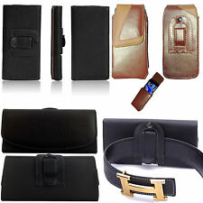 HOLSTER PU LEATHER BELT CLIP PHONE POUCH CASE COVER FOR SAMSUNG Galaxy Mobile