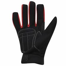 Dunlop Cycling Gloves Adults Black/Red Cycle BMX Mountain Bike Mitts