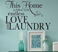 Love and Laundry Vinyl Wall Decal Quote Home Lettering- Laundry Room Decor