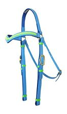 Barcoo/Stockmans Bridle - Mac Tack - PVC Horse Bridle Green/Blue